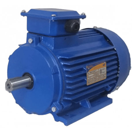 5АИ80A6 электродвигатель 0.75 кВт 1000 об/мин (трехфазный 220/380) Элком Китай